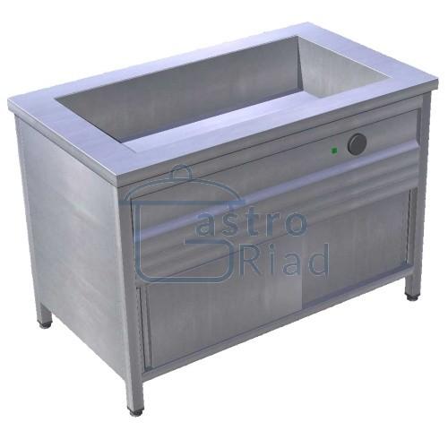Zobraziť tovar: Pult výdajný ohrevný s režónom 3xGN1/1, zváraná vaňa, EOSK