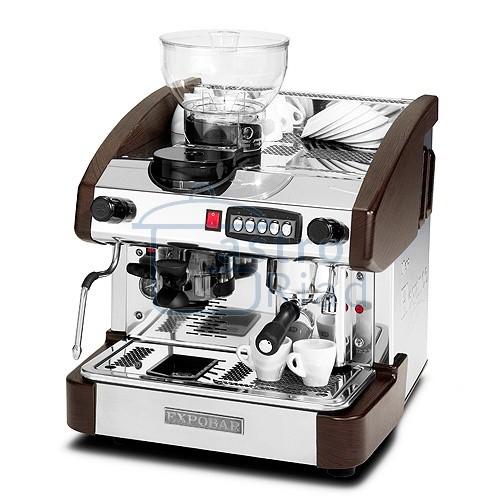 Zobraziť tovar: Kávovar 1 páka, mlynček,kapučinátor, 100káv/h, EMC 1P/W/M/C