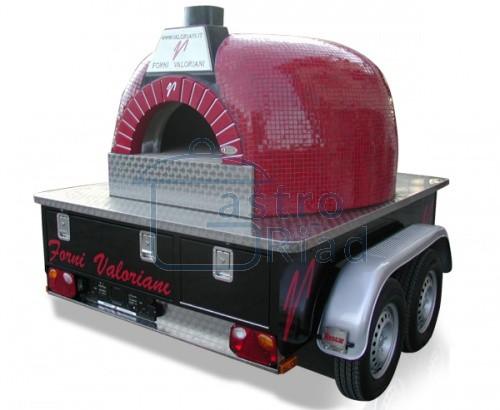 Zobraziť tovar: Pizza pec na mobilnom prívese, trailer 120