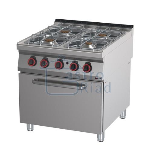 Zobraziť tovar: Sporák plyn. s rúrou, 4xhorák, 800/900, SPT-90/80-21G