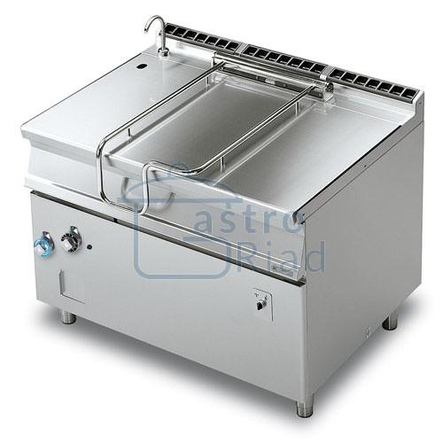 Zobraziť tovar: Panva smažiaca plyn. zliatinová el. sklápanie 120 l, 1200/900, BRM120-912G