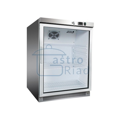 Zobraziť tovar: Chladnička nerezová presklená ventilovaná 130 l, DR-200GS