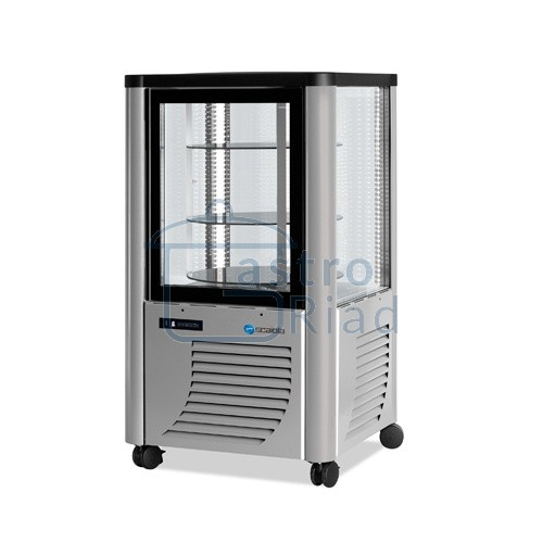 Vitrína chladiaca, otočné police, strieborná, 230 l