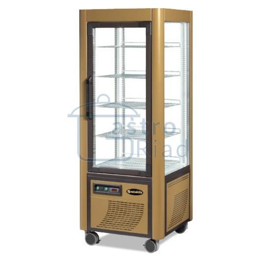 Zobraziť tovar: Vitrína chladiaca, roštové police, zlatá, 400 l, ERF400Z