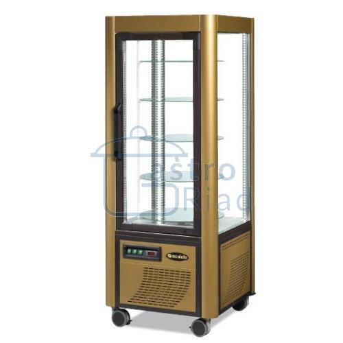 Zobraziť tovar: Vitrína chladiaca, otočné police, zlatá, 400 l, ERG400/Z