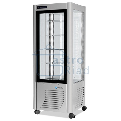 Zobraziť tovar: Vitrína chladiaca, otočné police, strieborná, 400 l, ERG400/S