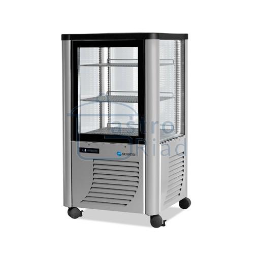 Zobraziť tovar: Vitrína chladiaca, roštové police, strieborná, 230 l, ERF230/S