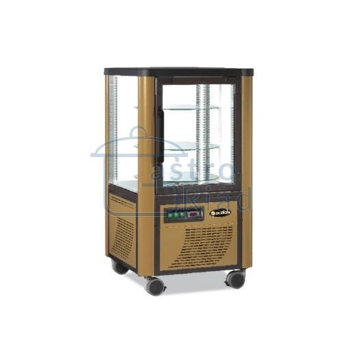 Zobraziť tovar: Vitrína chladiaca, otočné police, zlatá, 230 l, ERG230/Z