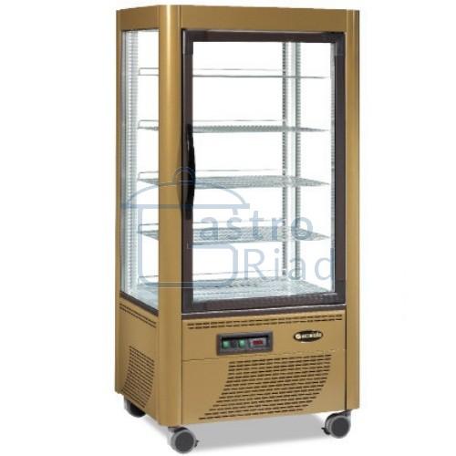 Zobraziť tovar: Vitrína chladiaca, roštové police, zlatá, 540 l, ERF540Z
