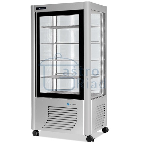 Zobraziť tovar: Vitrína chladiaca, roštové police, strieborná, 540 l, ERF540S
