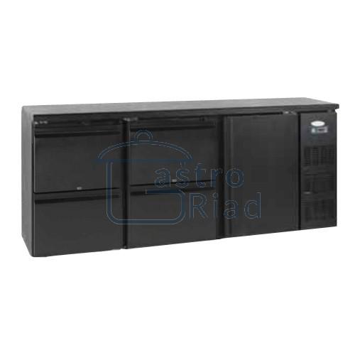 Zobraziť tovar: Stôl chladiaci barový, 4 x zásuvka, 1 x dvere, antracit, CBC-340
