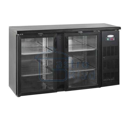 Zobraziť tovar: Stôl chladiaci barový, 2 x presklené dvere, antracit, CBC-210G