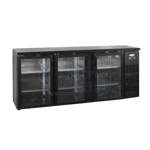 Zobraziť tovar: Stôl chladiaci barový, 3 x presklené dvere, antracit, CBC310G