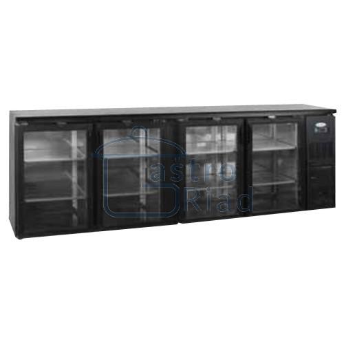 Zobraziť tovar: Stôl chladiaci barový, 4 x preskl. dvere, antracit, CBC-410G