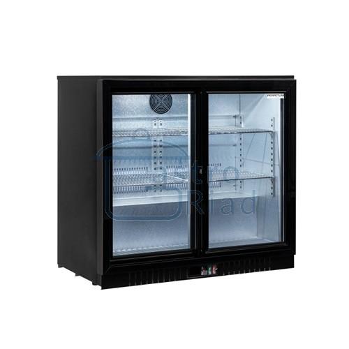 Zobraziť tovar: Stôl chladiaci barový, 2 x presklené dvere