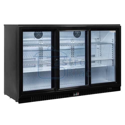 Zobraziť tovar: Stôl chladiaci barový, 3 x presklené dvere, BAR-386SG