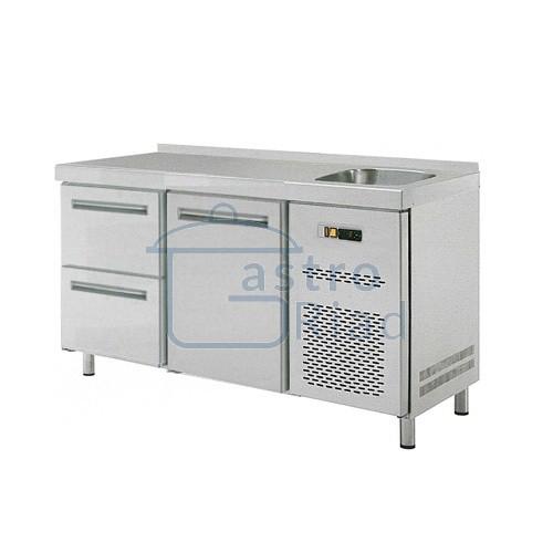 Zobraziť tovar: Stôl chladiaci s drezom, 1 x dvere, 2 x zás., RT-2D-1D2Z-S