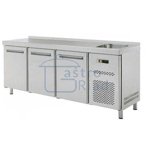 Stôl chladiaci s drezom, 3 x dvere