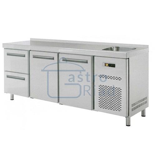 Zobraziť tovar: Stôl chladiaci s drezom, 2 x dvere, 2 x zás., RT-3D-2D2Z-S