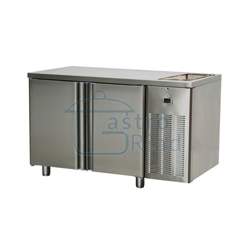 Zobraziť tovar: Stôl chladiaci s drezom, 2 x dvere, SCH-2D+Dr