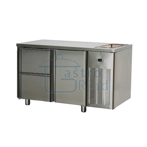 Zobraziť tovar: Stôl chladiaci s drezom, 1 x dvere, 2 x zásuvka, SCH-2D-1D2Z-Dr