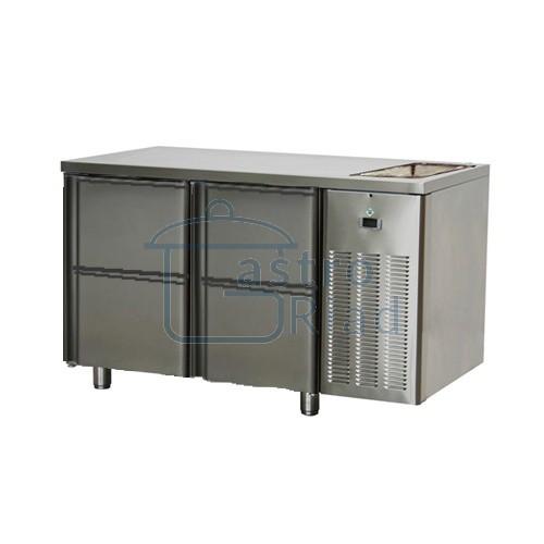 Zobraziť tovar: Stôl chladiaci s drezom, 4 x zásuvka, SCH-2D-4ZDr