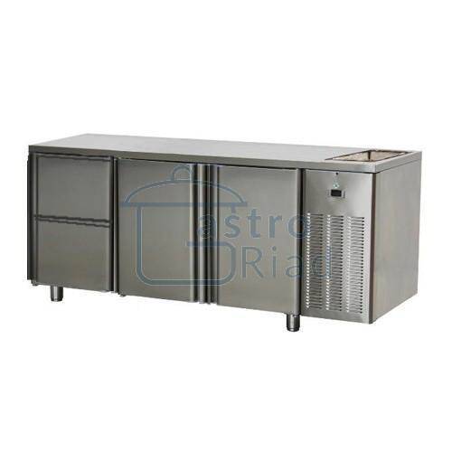 Zobraziť tovar: Stôl chladiaci s drezom, 2 x dvere, 2 x zás., SCH-3D-2D2ZDr