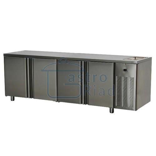 Stôl chladiaci s drezom, 4 x dvere
