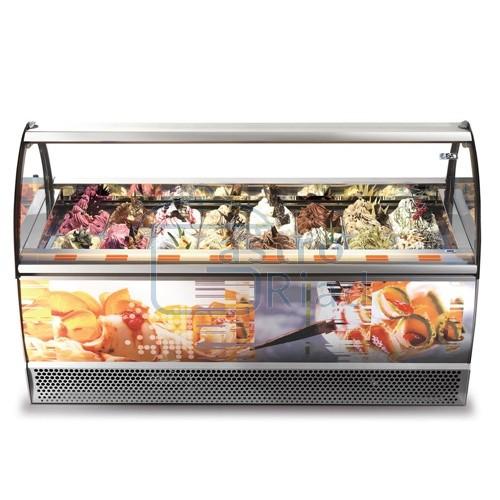 Zobraziť tovar: Vitrína zmrzlinová 12 x GN, MILENNIUM LX-12