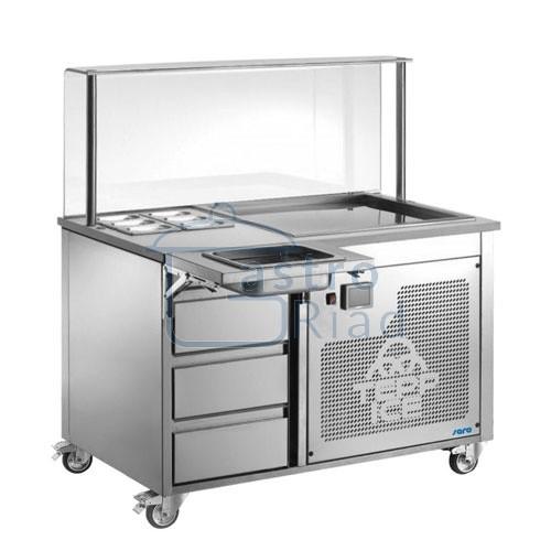 Zobraziť tovar: Vozík s mraziacou doskou na zmrzlinu, ATENA
