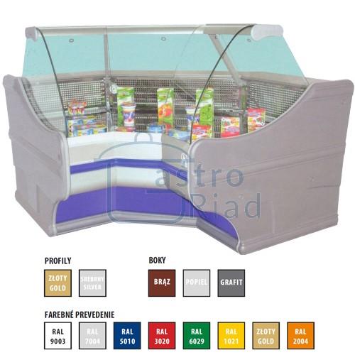 Zobraziť tovar: Vitrína chladiaca, rohový modul vnútorný 450 l, WCh-6/1BNw