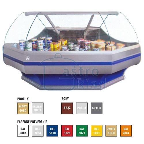 Zobraziť tovar: Vitrína chladiaca, rohový modul vonkajší 225 l, WCh-6/1BNz