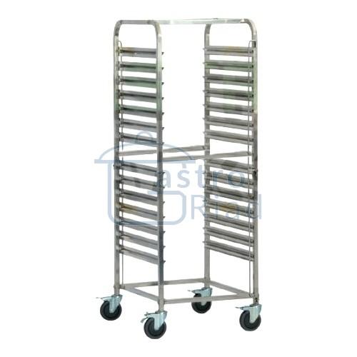 Zobraziť tovar: Vozík na gastronádoby GN1/1, 14 zásuvov