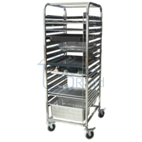Zobraziť tovar: Vozík na gastronádoby GN2/1, 14 zásuvov