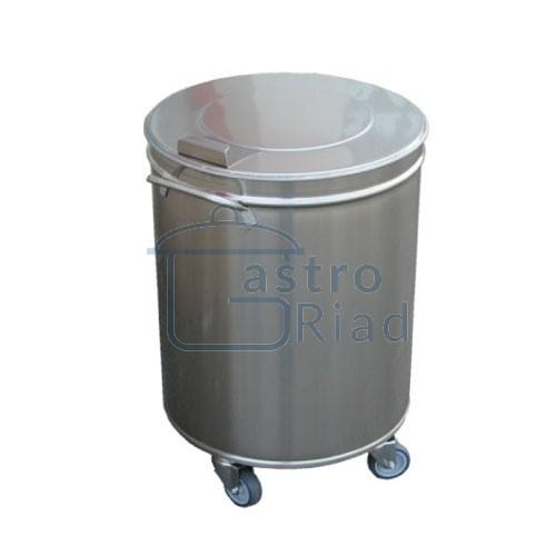 Zobraziť tovar: Kôš na odpadky nerez. mobilný 50 l, IP 01