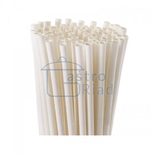Zobraziť tovar: Slamka papierová biela - 100 ks