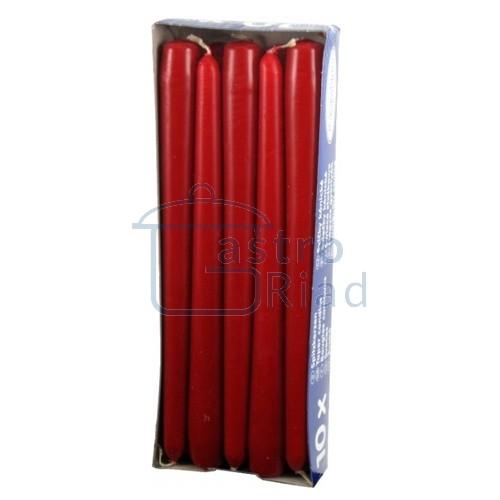 Zobraziť tovar: Sviečky červené - 10ks