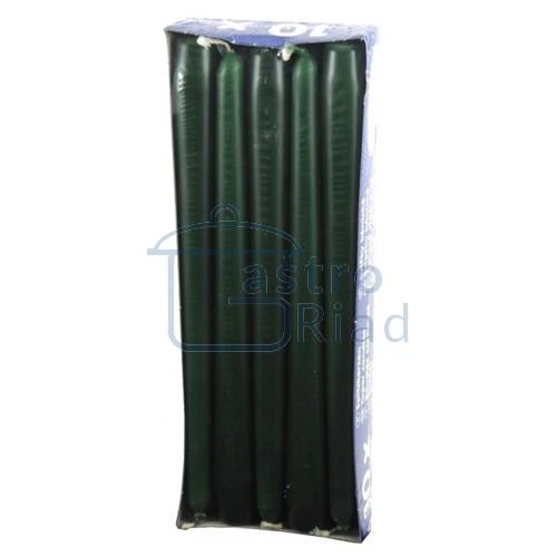 Zobraziť tovar: Sviečky tm.zelené - 10ks