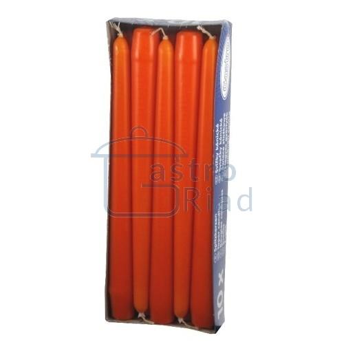 Zobraziť tovar: Sviečky oranžové - 10ks