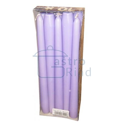 Sviečky sv.fialová - 10ks