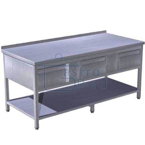 Zobraziť tovar: Stôl pracovný so zásuvkami 1800x700, PSZS-3